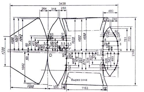 Схема конструкции тента.